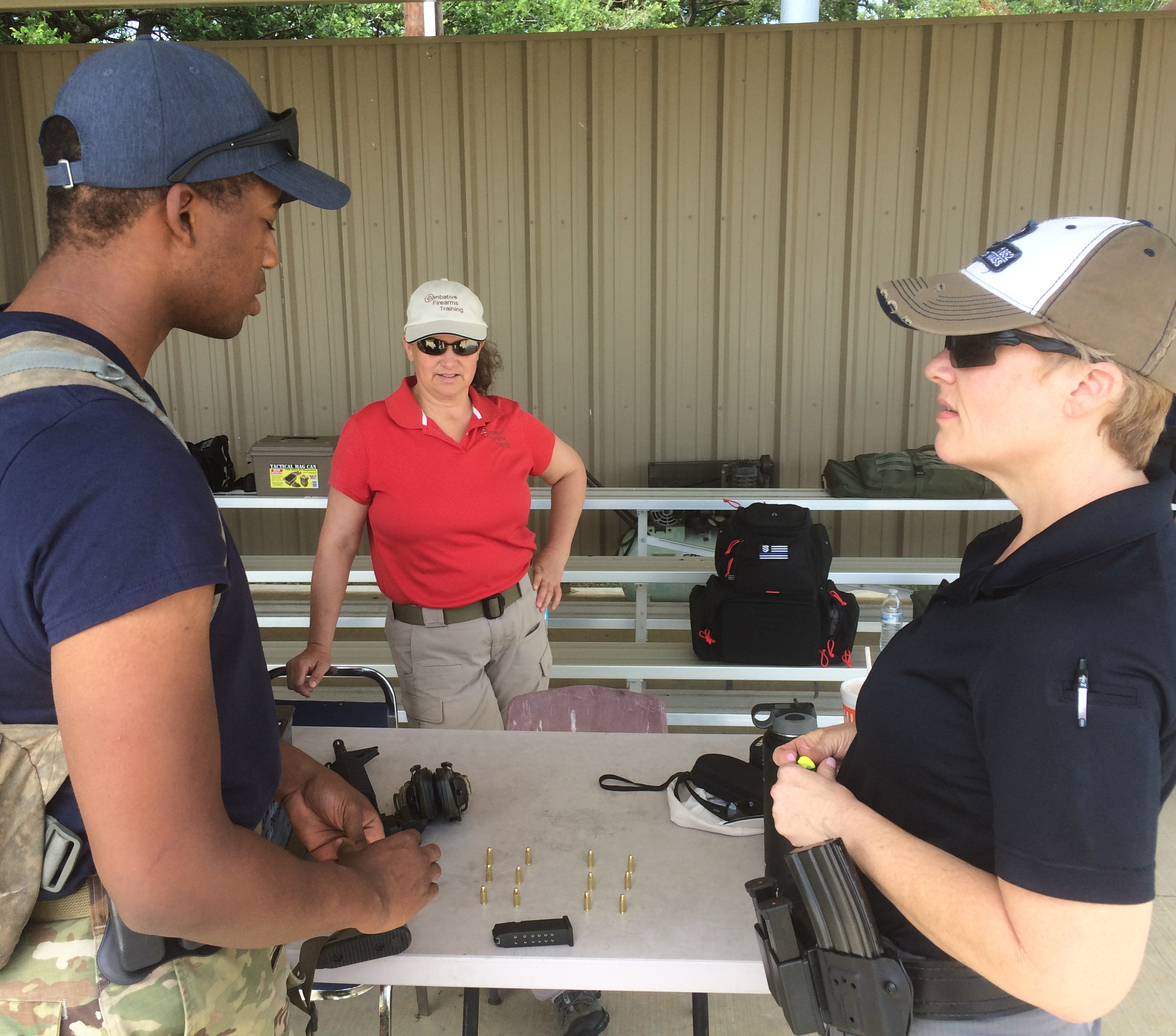 Firearms training and equipment for female police officers